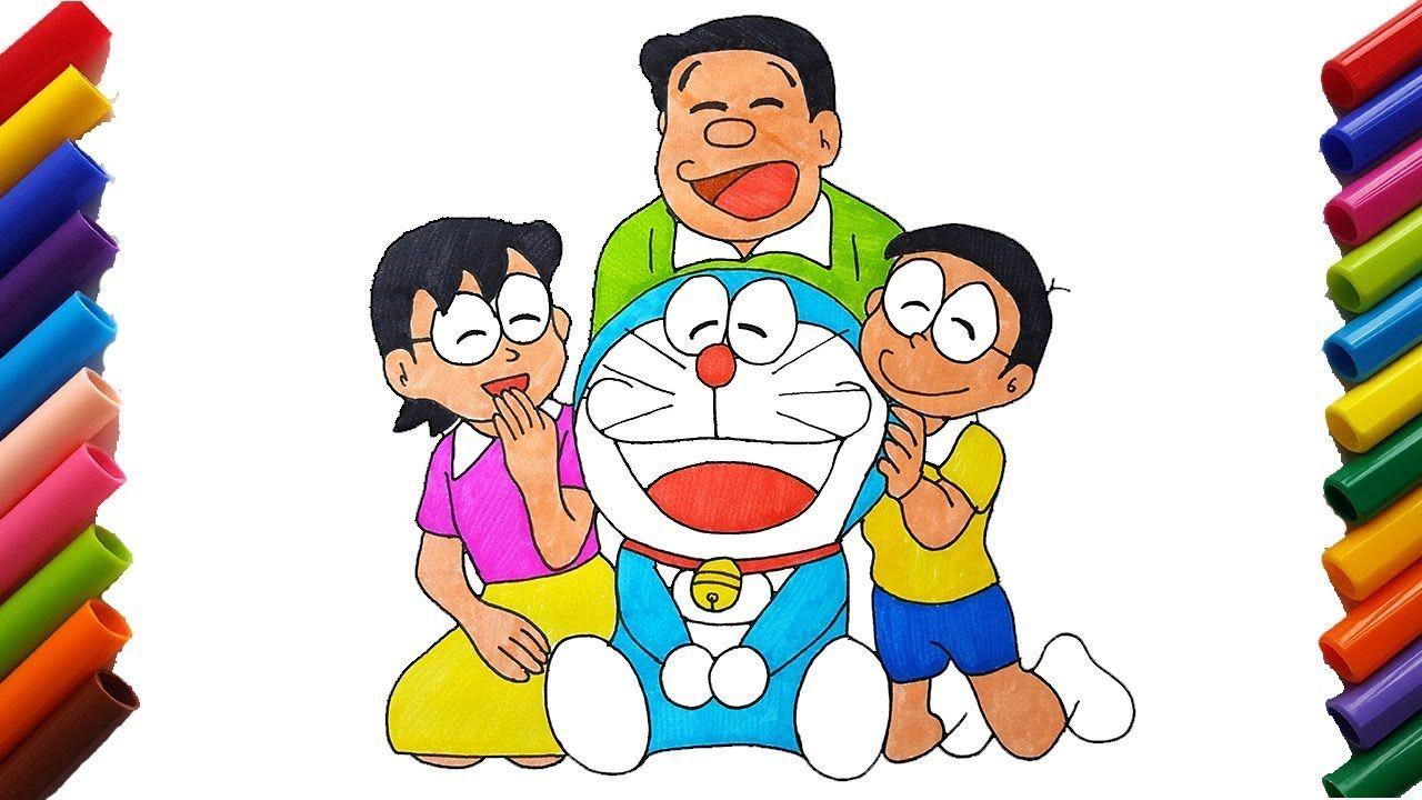 Vẽ Và Tô Màu Phim Hoạt Hình Doraemon đại Gia đình Nobita Vẽ Và