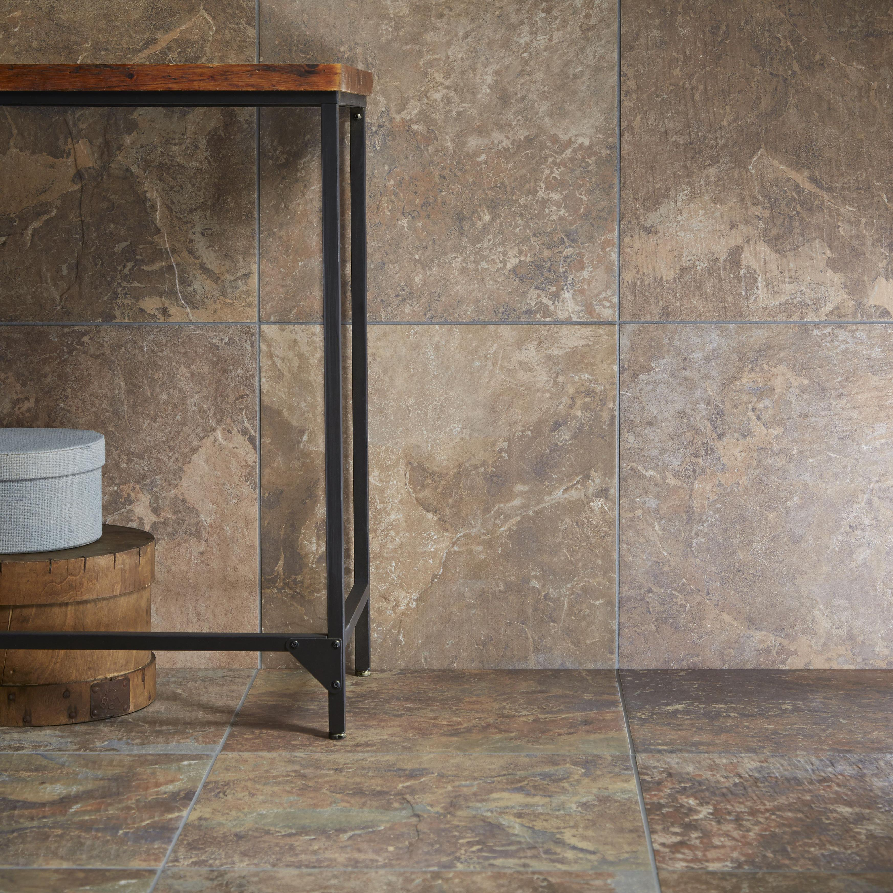 Brook dark stone effect porcelain wall floor tile pack of 5 l brook grey dark stone effect porcelain wall floor tile pack of bq for all your home and garden supplies and advice on all the latest diy trends doublecrazyfo Images