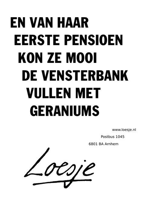 En Van Haar Eerste Pensioen Kon Ze Mooi De Vensterbank