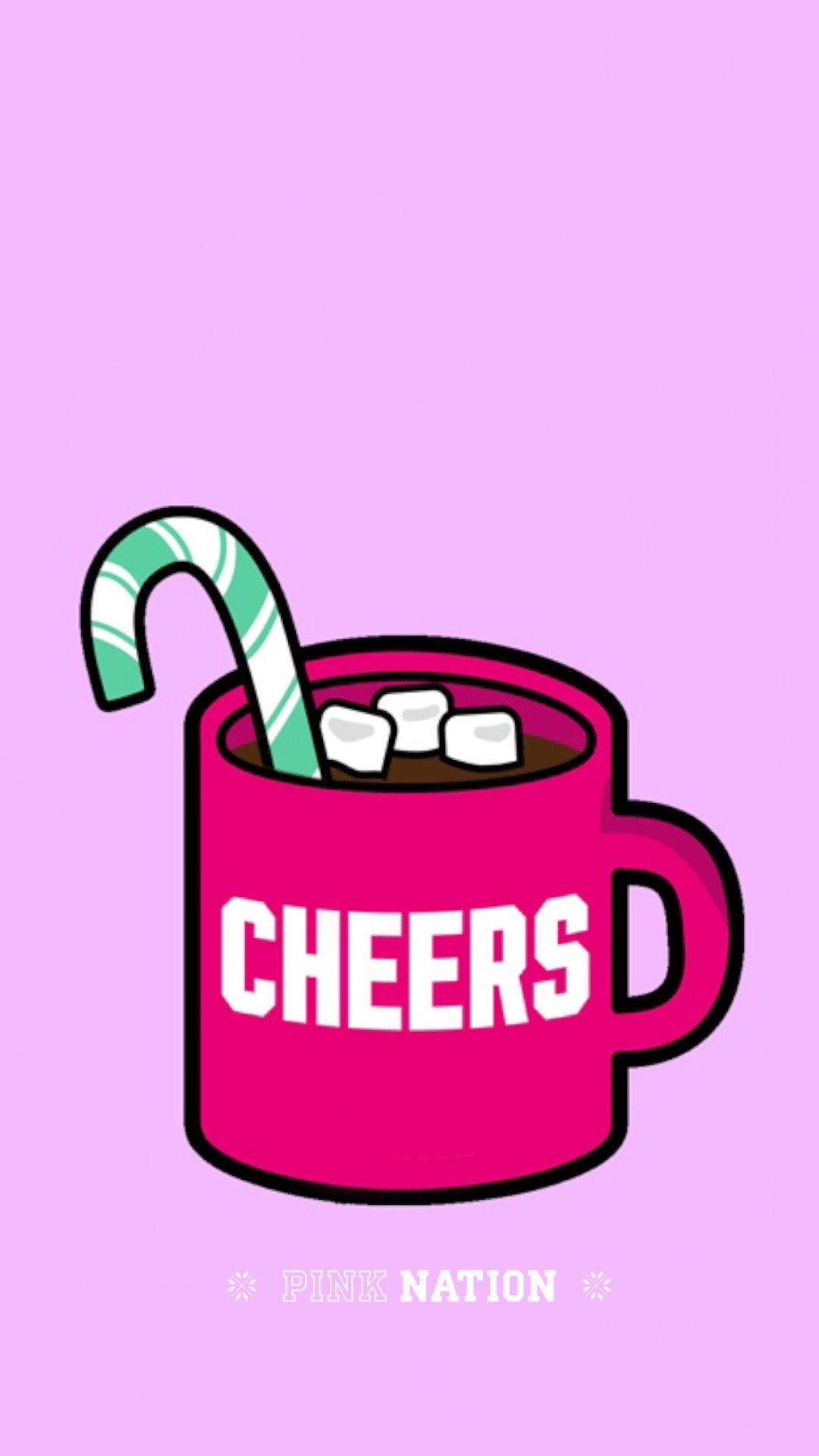 Pink Nation Wallpaper Victorias Secret VS Coffee Christmas IPhone Background Marshmallows Peppermint Candy Cane Made By Tabitha