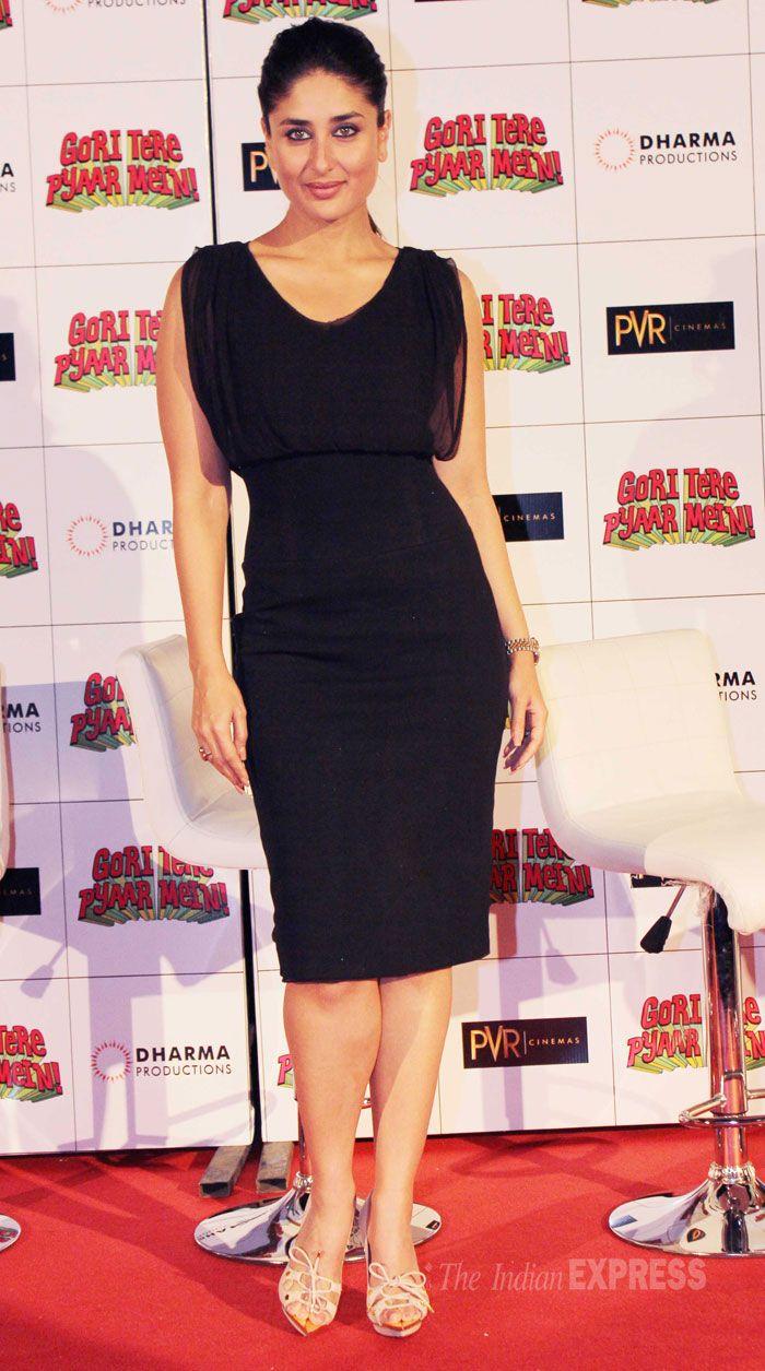 Black dress kareena kapoor - Kareena Kapoor Looking Smoking Hot In A Black Ports 1961 Dress With Tom Ford Sandals And