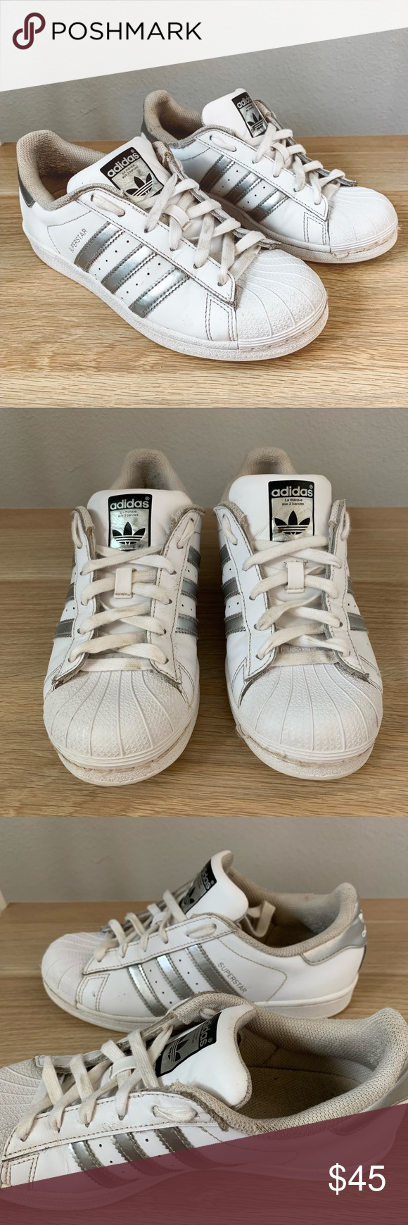 Adidas Silver Stripe Superstar Sneakers