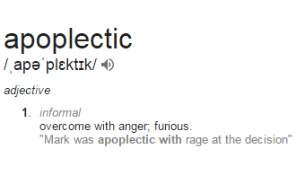 Apoplectic Definition #vocabulary #words