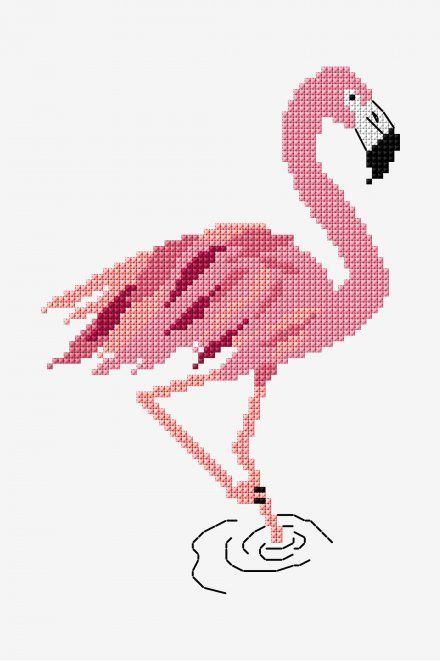 Photo of #Cross #Flamingo #free #pattern #Patterns #Stitch pat0778