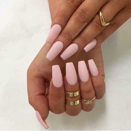 Matinmonamour Pink Nails Pretty Nails Fake Nails