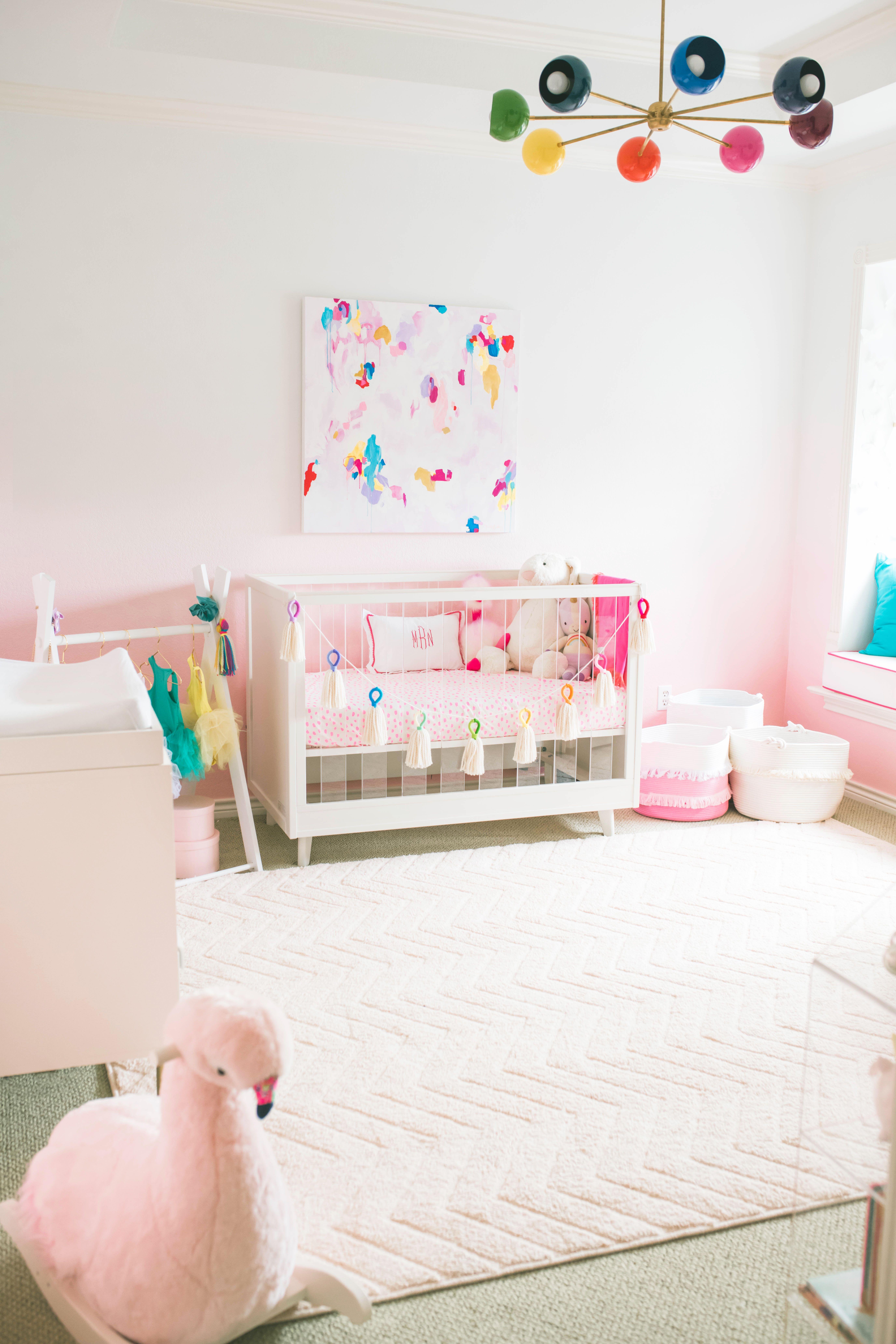 Pink Rainbow Nursery Project Nursery In 2020 Girl Nursery