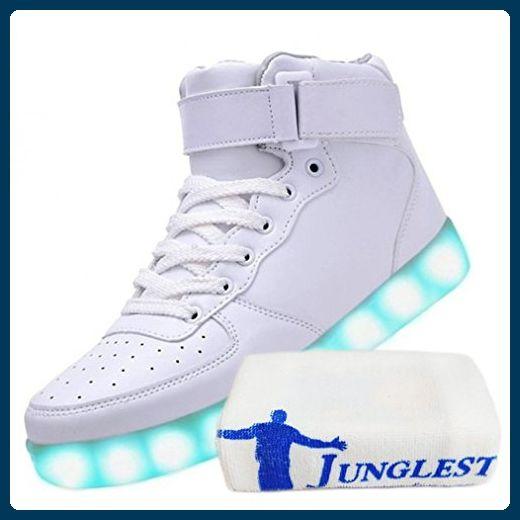 [Present:kleines Handtuch]Weiß 40 Farbwechsel Freizeit weise Damen Schuhe Licht JUNGLEST High Light Sport Top Blink G9iaS