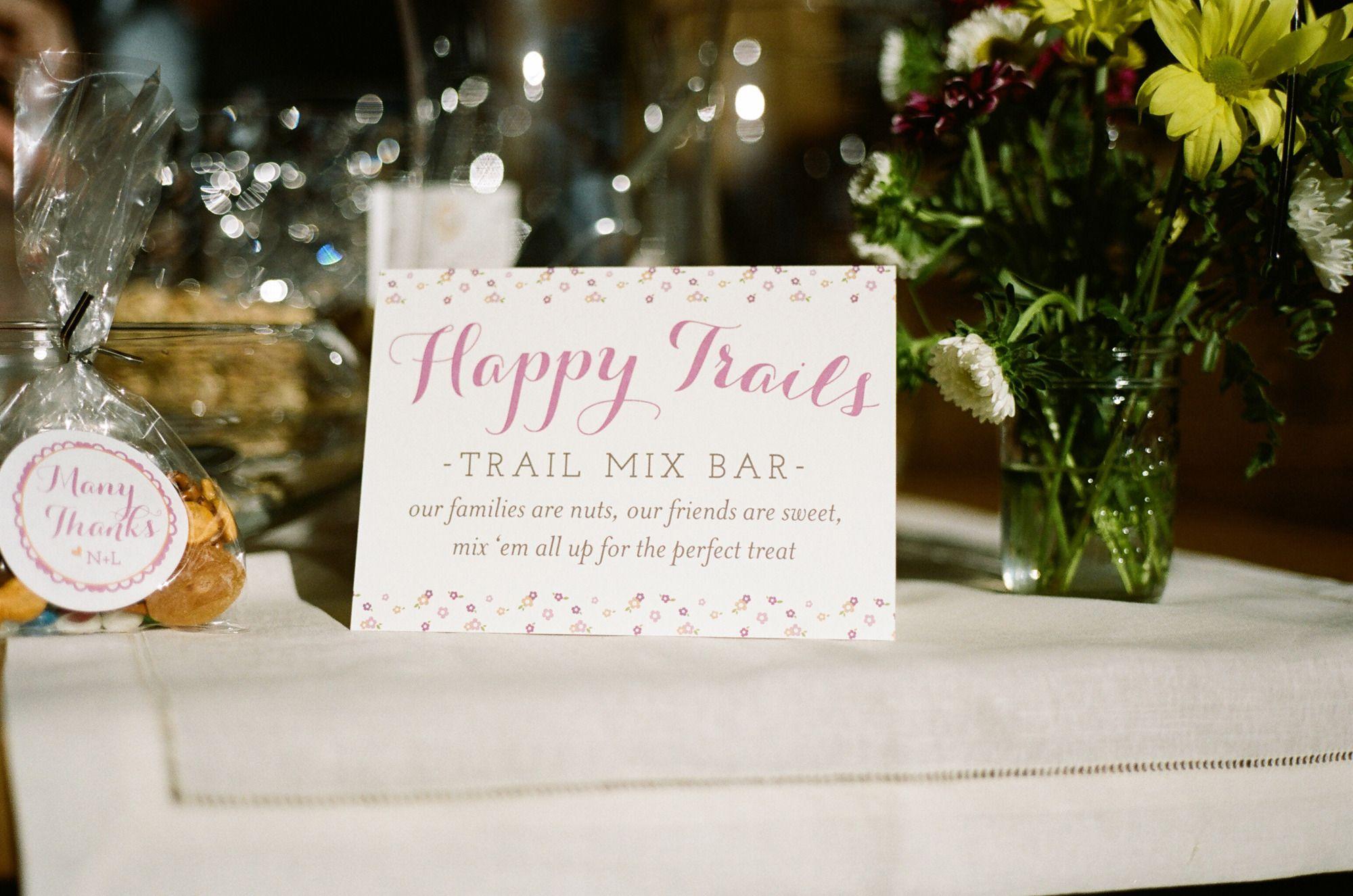 Northstar Zephyr Lodge Wedding   Trail mix bars, Lodge wedding and ...