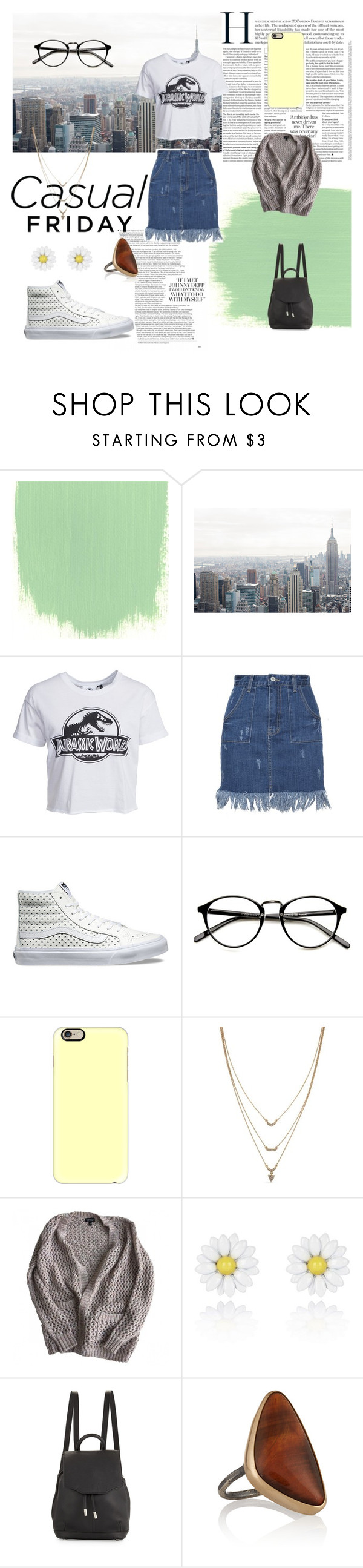 """Casual"" by kaysielee ❤ liked on Polyvore featuring New Look, Vans, Casetify, Jessica Simpson, Topshop, River Island, rag & bone, Melissa Joy Manning, modern and vintage"