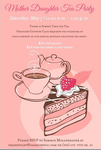 Tea Party Event Flyer Poster Template  Kids    Event