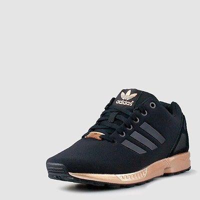 Marca di scarpe 0c841 c6c73 donne adidas zx flusso nucleo poliziotto nero
