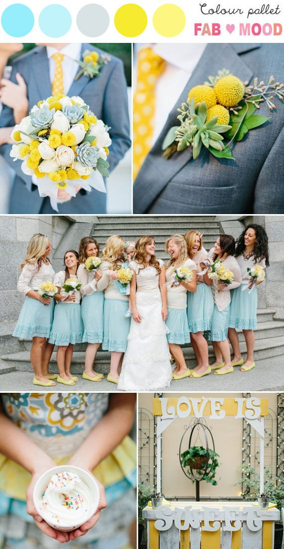 Blue Yellow Wedding Colorsblue And Yellow Wedding Palette Color