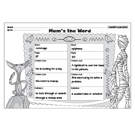 FREE DOWNLOADABLE Context Clue Chart~ Provide each student