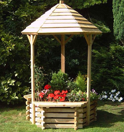 Lovely wishing well planter garden feature