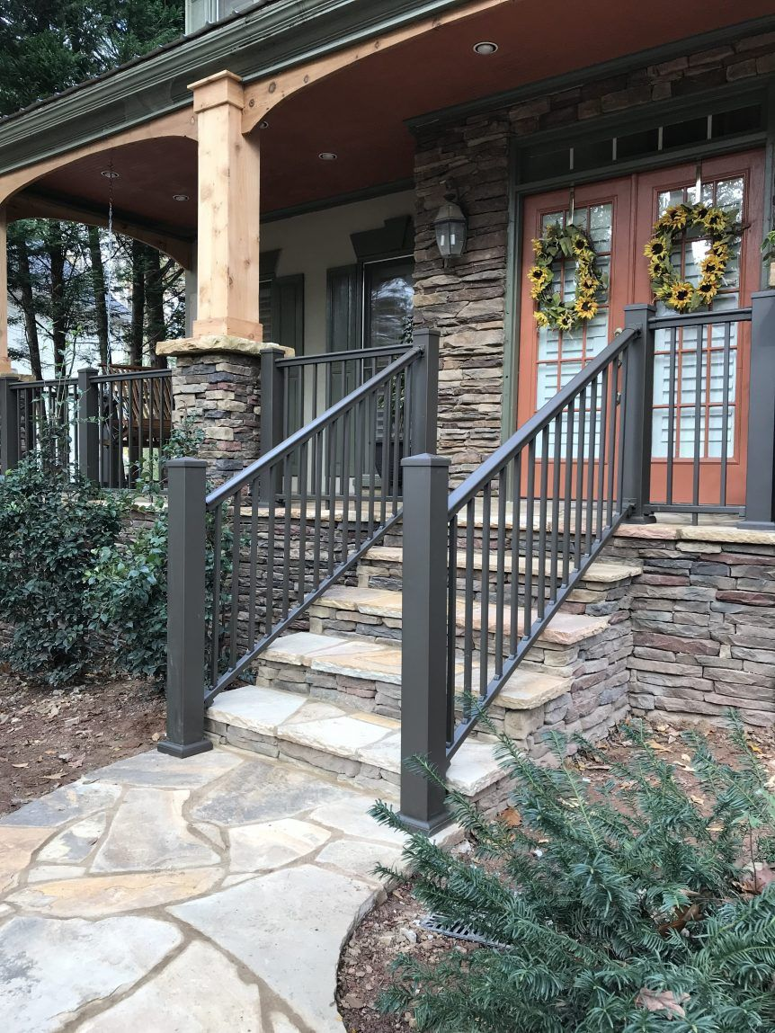 Afco Level Rail Kit S 100 Stair Solution Exterior Stair Railing Porch Railing Designs Outdoor Stair Railing