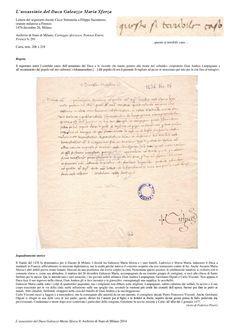 The assassination of the Duke Galeazzo Maria Sforza (1444-1476)