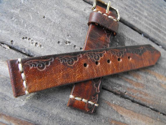 Christmas Women Watch Strap Leather Watch Band Vintage Brown Leather Watch Strap 18/20/22/24