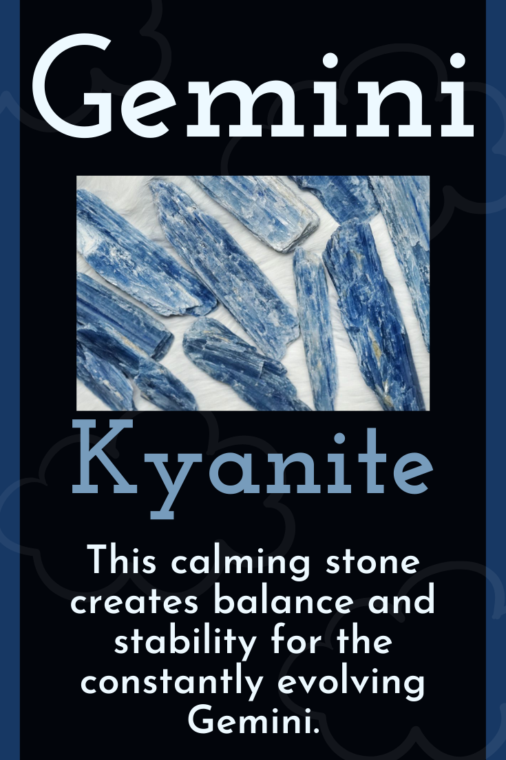 Natural Blue Kyanite for Gemini Stone to Enhance and Stabilize Gemini Energy