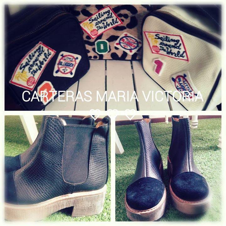 Botinetas Roma #invierno #fashion #leather #boots FB: Carteras Maria Victoria