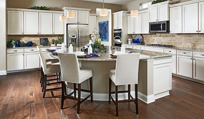 White Cabinets Neutral Granite And A Rounded Island Are Just A Custom Kitchen Design Richmond Inspiration Design