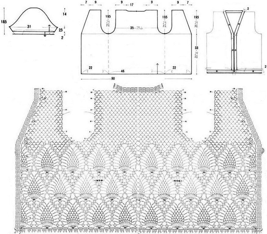 Картинки и схемы вязания крючком жакетов