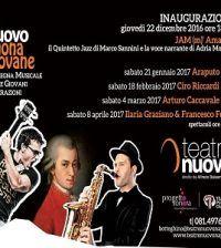 """Con la rassegna """"Il Nuovo Suona Giovane"""" la musica arriva a teatro, declinata secondo diverse sintassi sonore e vari stilemi musicali, arricchendo la programmazione del Teatro Nuovo. #livemusic #Napoli"""