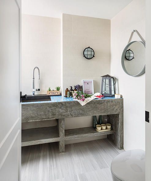Don't Believe That Concrete Works In Bathrooms These Homeowners Brilliant Design A Bathroom Vanity Design Inspiration