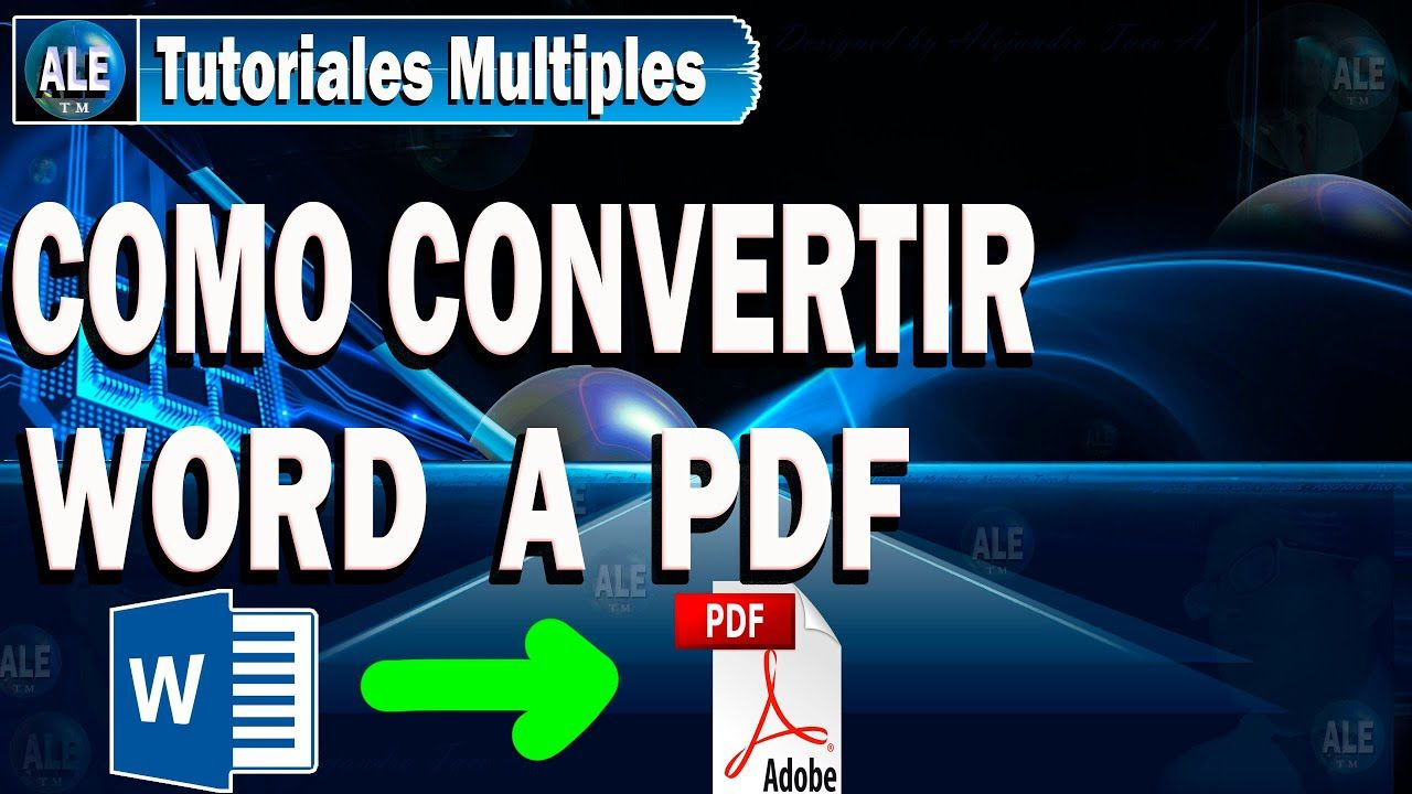 Como Convertir Documento Word A Pdf Sin Programas Youtube Tutoriales Youtube Videos