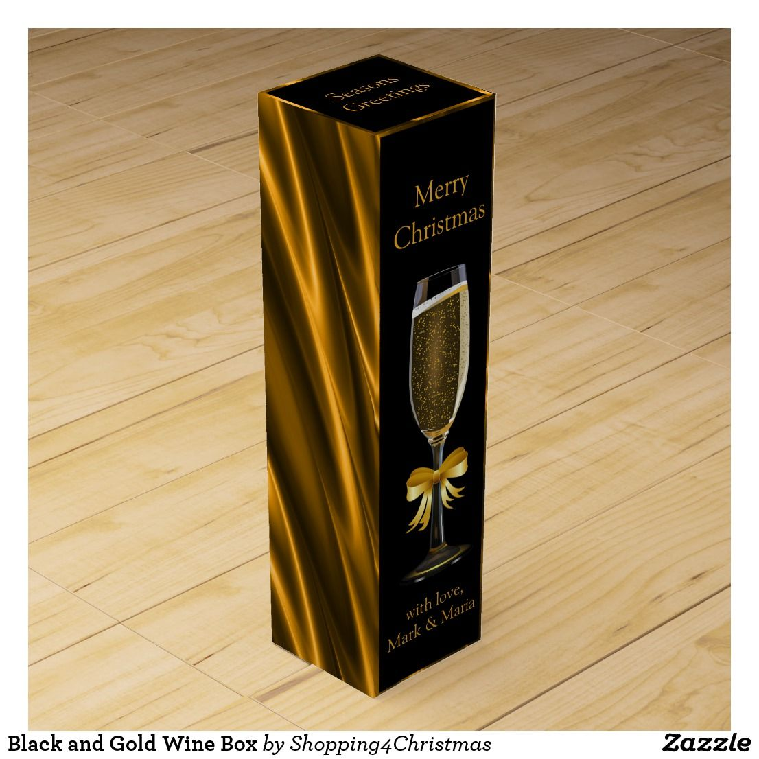Black And Gold Wine Box Zazzle Com Wine Lovers Gifts Wine Gift