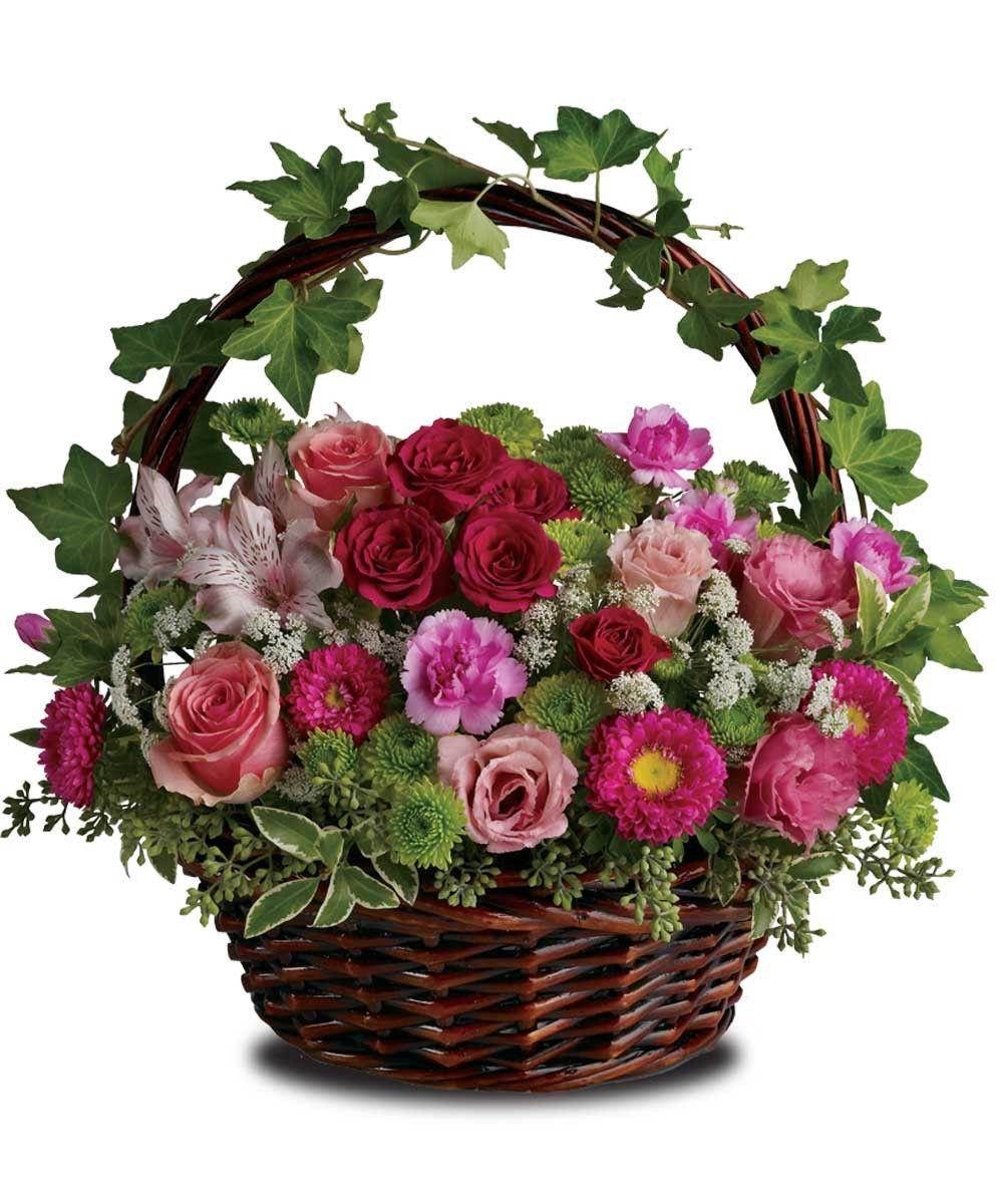 A Victorian Garden Basket flower arrangements, Flower