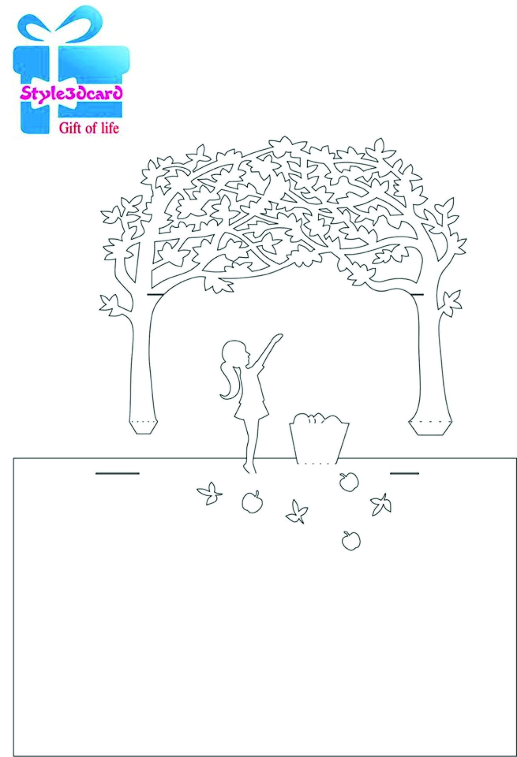 Happy Birthday 3D Pop-Up Card/ Kirigami pattern 2