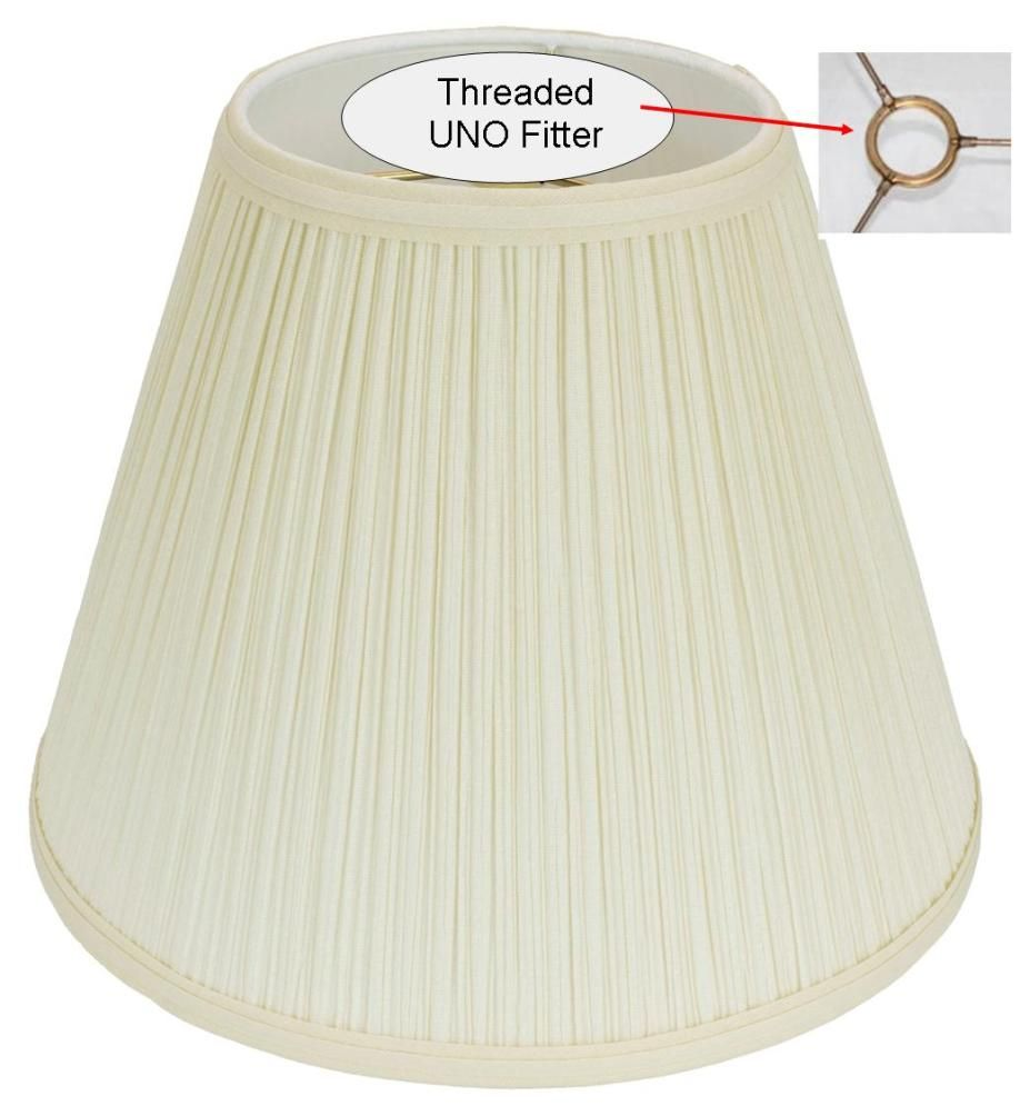 "Slip Uno Fitter Lamp Shade Captivating Mushroom Pleated Uno Floor Lamp Shade 1012""w  Usa American Made Decorating Design"