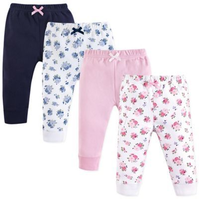 0828ac4a1 Luvable Friends Size 18-24M 4-Pack Floral Ankle Pants In Pink ...