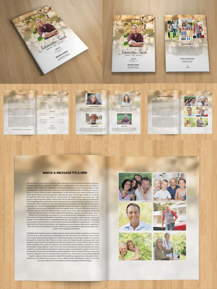 8 pages funeral program template funeral booklet