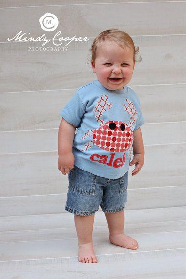 Dumptruck Crab Beach Bodysuit Toddler Shirt Boy Beach Shirt Dump Truck Outfit
