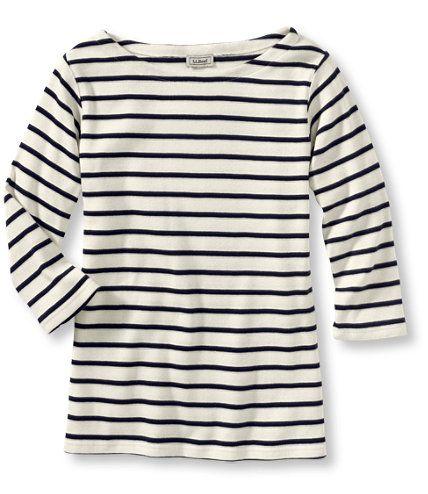 French Sailor's Shirt, Three-Quarter-Sleeve Boatneck: Tees and Knit Tops | Free Shipping at L.L.Bean
