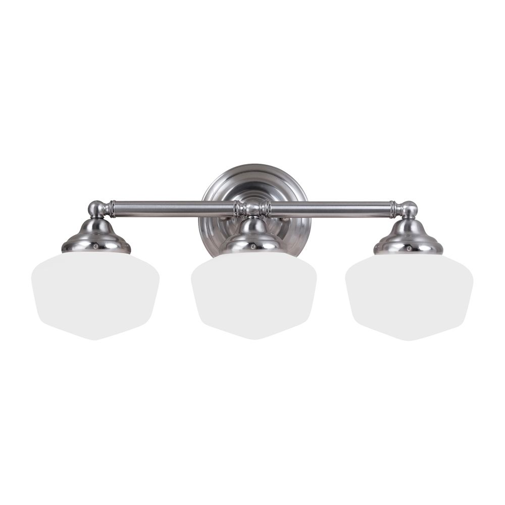 Bathroom Vanity 3 Light Fixture Brushed Nickel Bell Wall Lighting Allen Roth: Bathroom Light Fixtures Lowes Canada