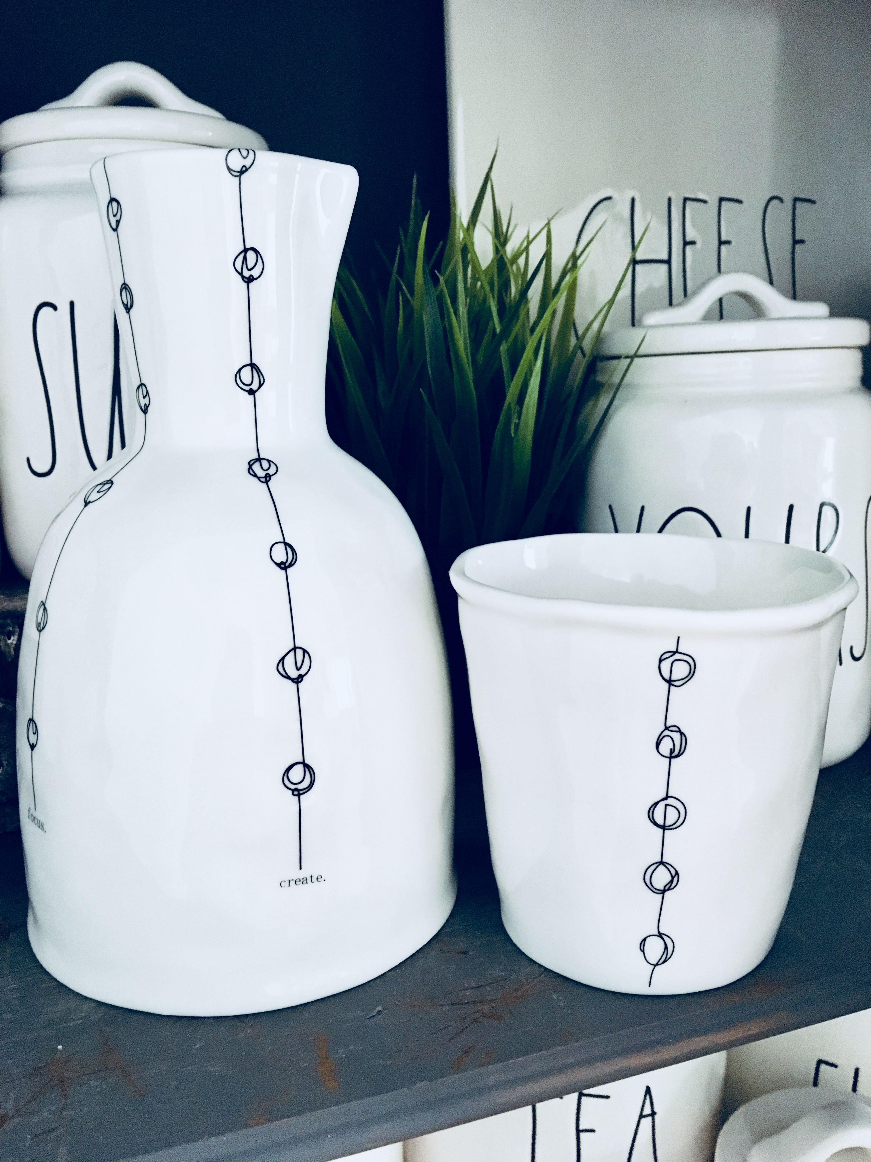 Rae Dunn Bedside Carafe And Cup Set Love With Images Bedside
