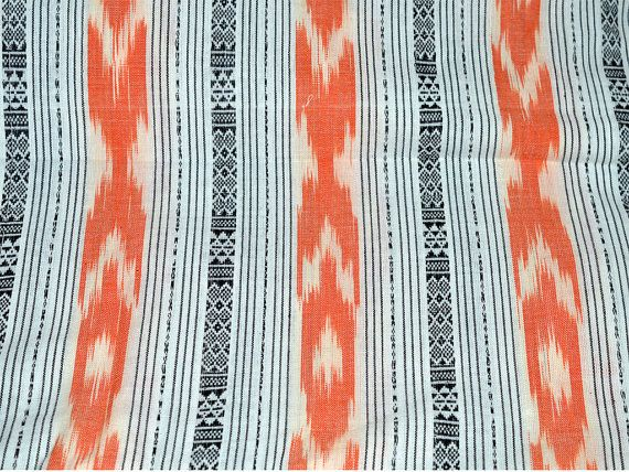 1.5 yard Ikat cotton Striped Pattern by Indianlacesandfabric