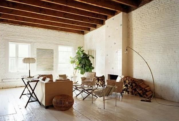 Modern Interior Design Ideas That Brighten Up Brick Walls With White Paint Help To Bring A Light Neutral Color Into Decorating Palette Calm Down Living