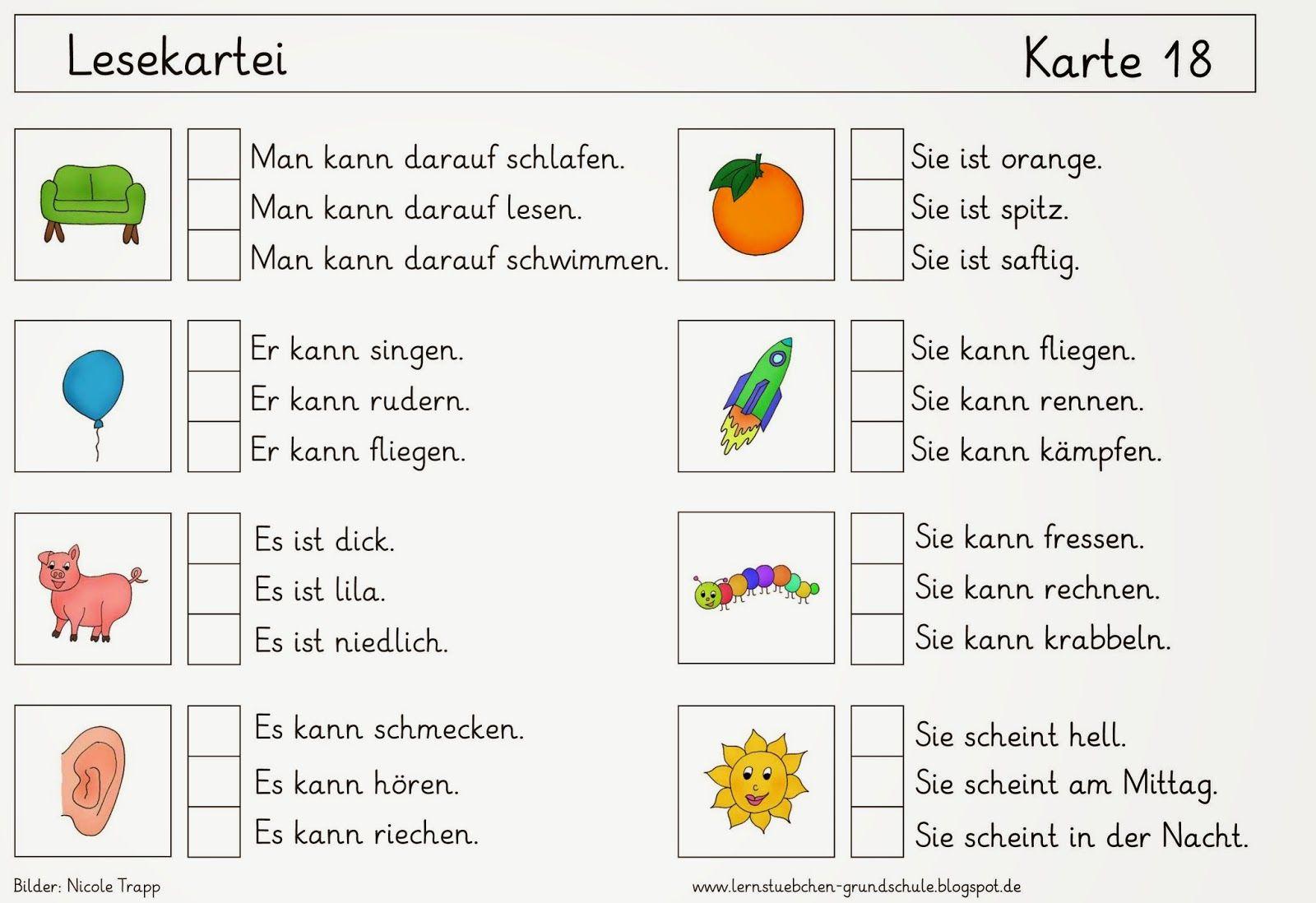 lernst bchen deu 1 erstes lesen kids und schulideen deutsch unterricht deutsch lesen und. Black Bedroom Furniture Sets. Home Design Ideas