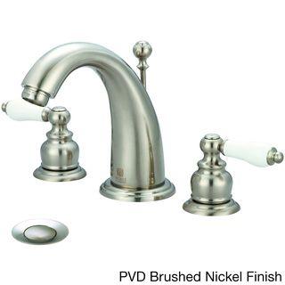 Pioneer Brentwood Series 3Br410 Widespread Doublehandle Porcelain Adorable Porcelain Handle Bathroom Faucet Inspiration Design