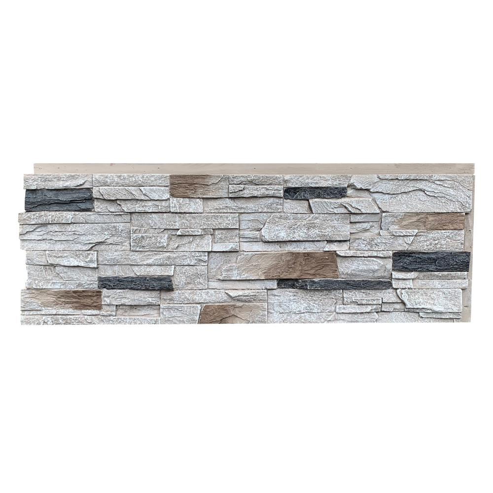 Nextstone Country Ledgestone 43 5 In X 15 5 In Faux Stone Siding Panel In Dover White 4 Pack Clp Dvw 4 In 2020 Faux Stone Siding Stone Siding Panels Stone Siding