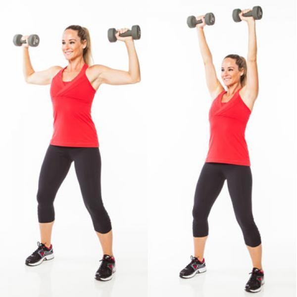 Mancuernas con para ejercicios mujeres triceps