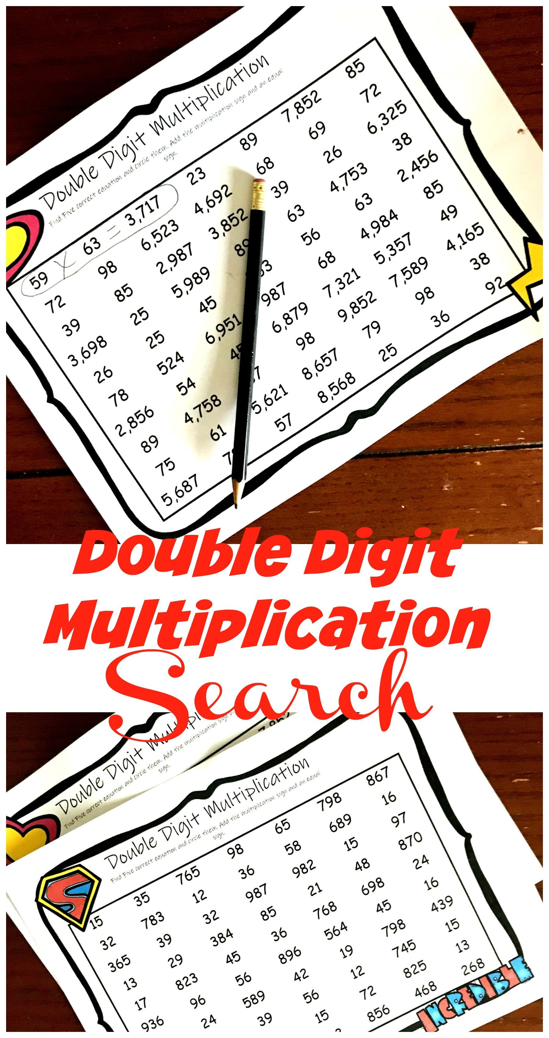 Free Two Digit Multiplication Worksheets With A Fun Twist