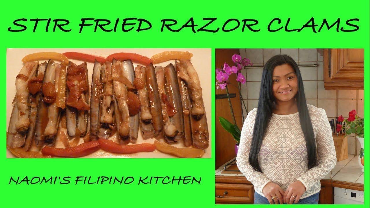 How to cook Razor Clams Filipino Stir fry Razor Clams with