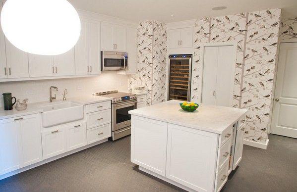 обои с птицами на кухне | Обои с птицами, Интерьер, Кухня