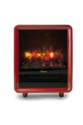 Crane Fireplace Heater Realistic Embers Electric Portable Red Mini