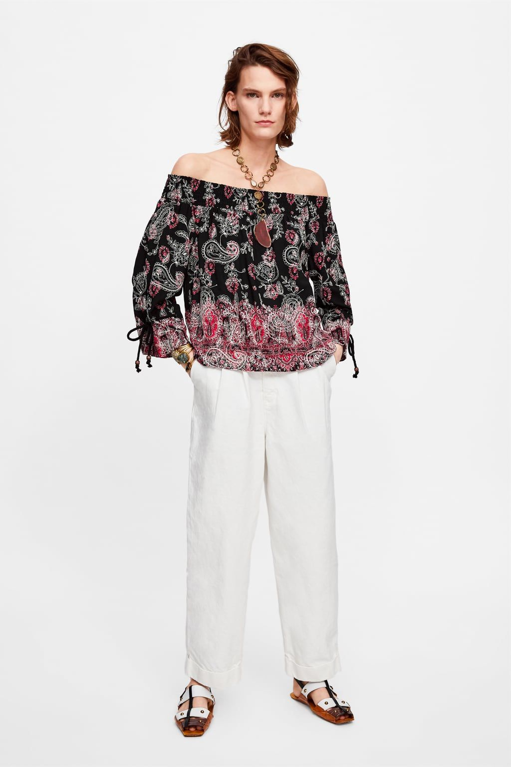 d2723046c45 PRINTED EMBROIDERED TOP - View All-SHIRTS | BLOUSES-WOMAN | ZARA United  Kingdom