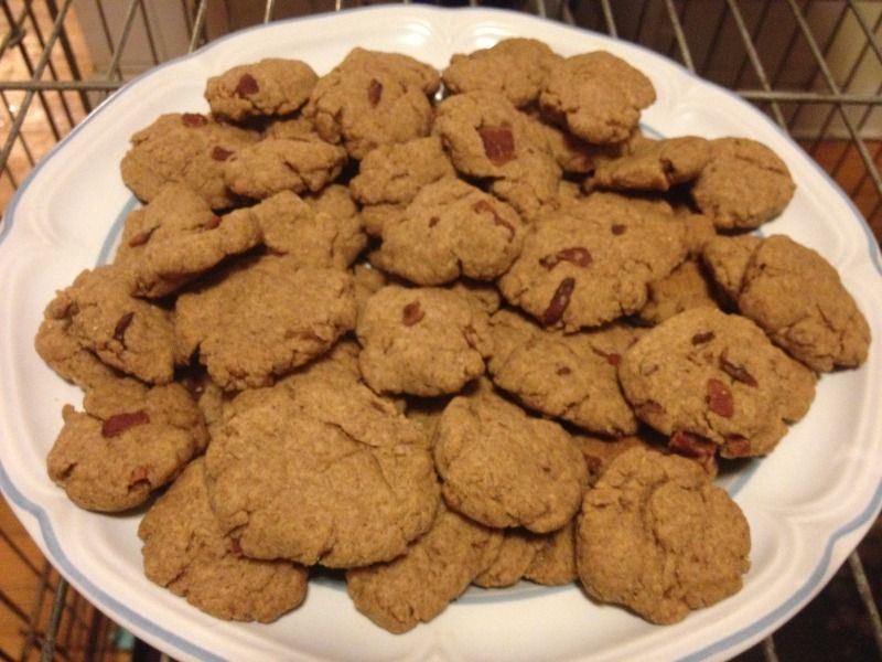 Homemade Dog Biscuits With Peanut Butter Bacon Grease Has Whole